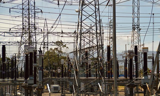 transformátory u elektrárny